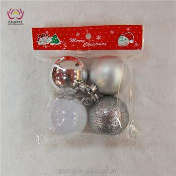 Factory Balls Christmas.Factory Wholesale6cm 4pcs Opp Bag Silver Christmas Balls Plastic Christmas Bauble Shiny Matt Glitter Marble Ball For Set Buy Christmas Balls Xmas