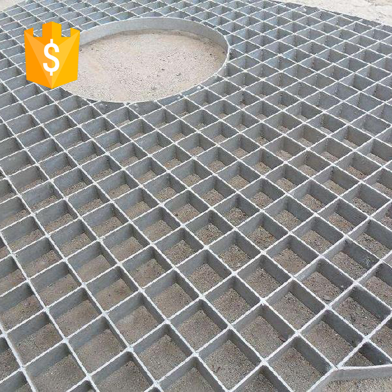 stainless steel bar grating/steel grating tree pool cover with 6mm cross bar