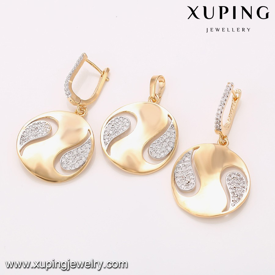 64337 White+18k Gold Plated Expensive Big Costume Jewelry Sets ...