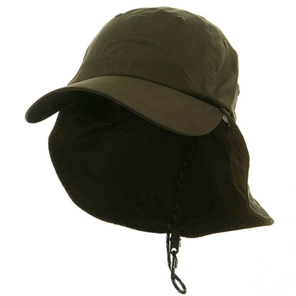 75701828c2394 Get Quotations · e4Hats.com Microfiber Cap with Flap-Olive