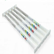 Telescopic white shower curtain rod