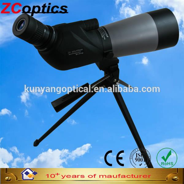 2015 ZC-optics 20-60x60 Hunting Spotting Scope Waterproof Straight Spotting Scope