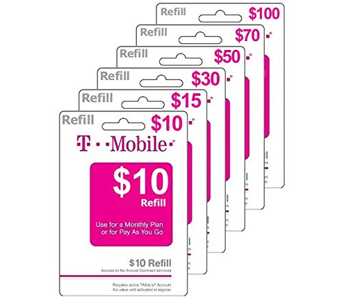 $10 T-Mobile Prepaid Phone Card | No Shipping | Instant Refill Sent to Your Phone | Must Send Mobile Number (See Description Below) ($10 Prepaid Minutes)