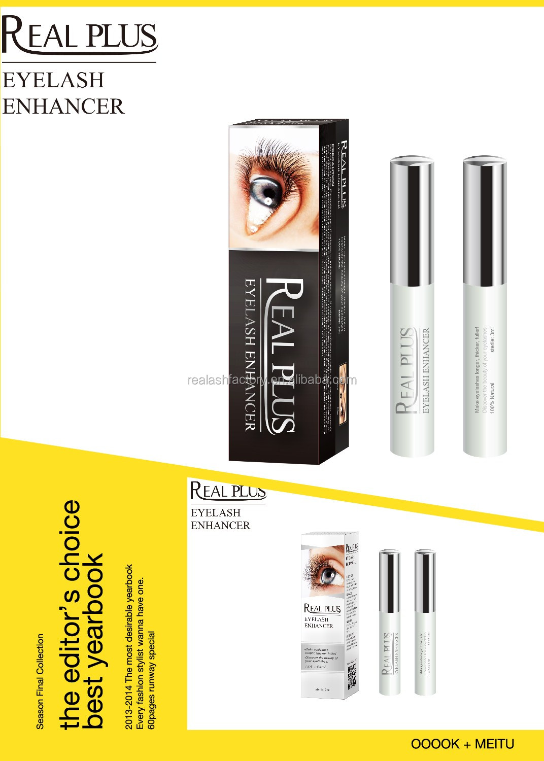 We offer eyelash enhancer serum in bulk - 1000ml as MOQ ;REAL PLUS EYELASH EXTENION !!BLING ;WOW