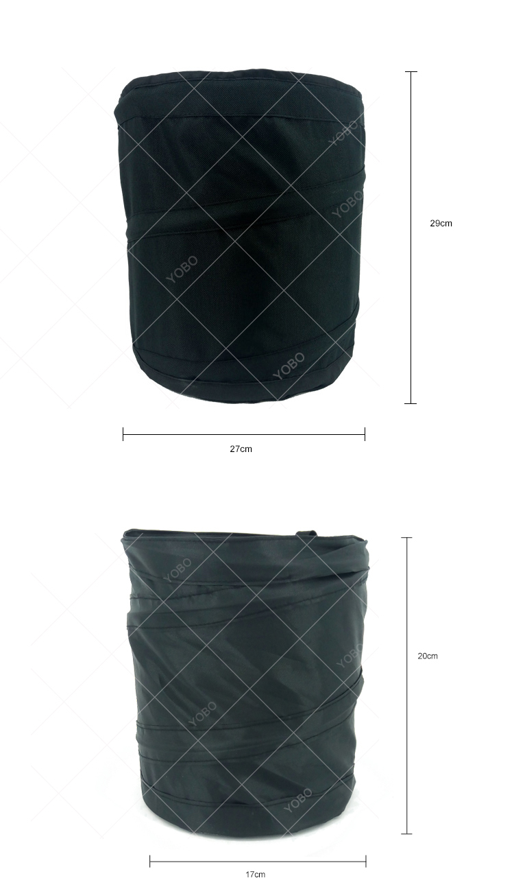 car trash can with cover