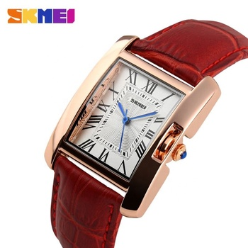 Wholesale waterproof elegant gift watch skmei 1085 leather wrist watch for ladies