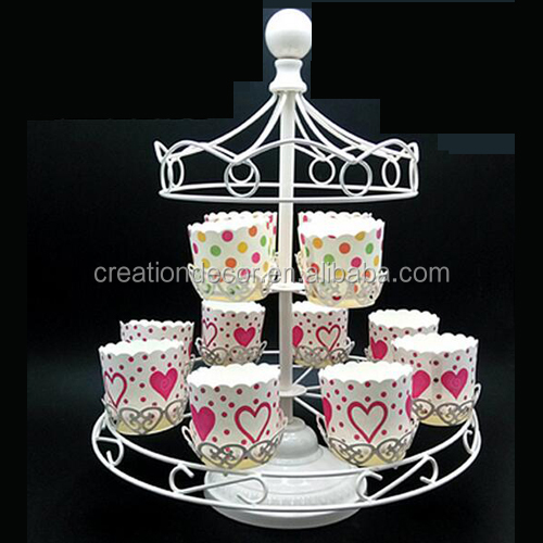 12 cups Wooden horse cupcake weddding cake stand, baking cup display