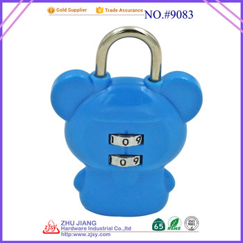 hot sale 2 digital combination bear-shape padlock