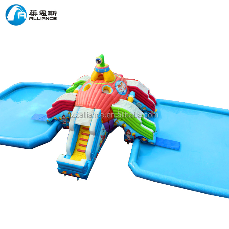 connect two inflatable pools Submarine inflatable water <strong>slide</strong>