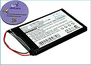 vintrons (TM) Bundle - 1000mAh Replacement Battery For GARMIN AE10AE16AB2BX, + vintrons Coaster