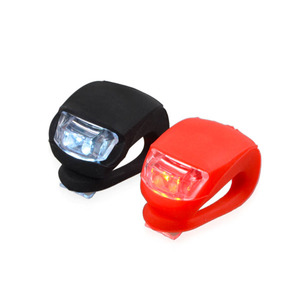 2-pack of RED and WHITE Silicone LED Waterproof Front and Rear Bicycle Light set