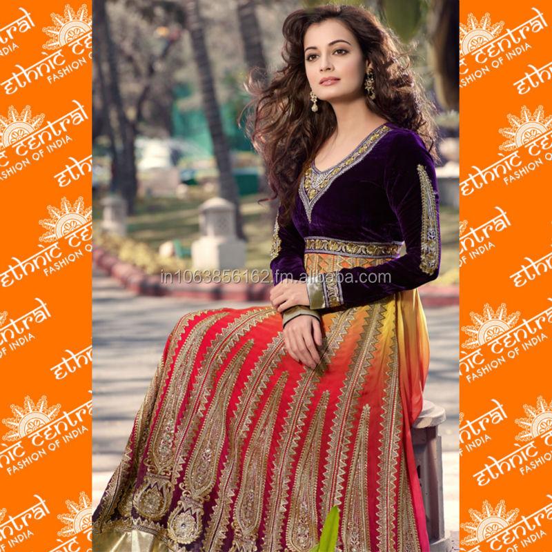 Ethnic Central's Anarkali Chudidar Salwar Kameez Suit Dress ...