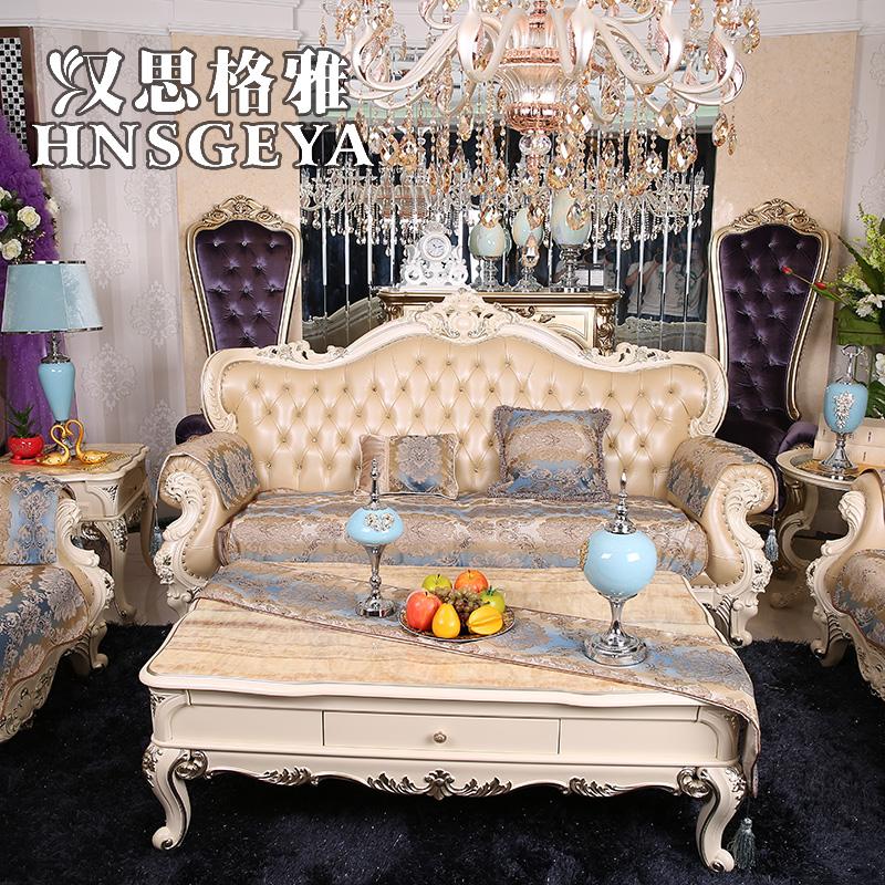 High End Leather Sofa: High End European Style Luxury Leather Sofa Cushion Slip
