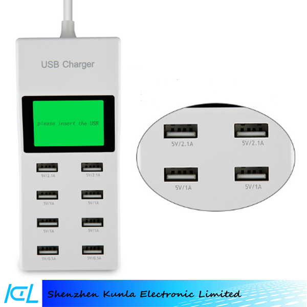 8 Porte USB Multipla Caricatore Da Muro, Travel Charger 5 V 9.2A USB Wall Charger per iPhone iPad Samsung Galaxy Pad