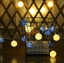 Led string light chain cotton balls hotsale in 2018