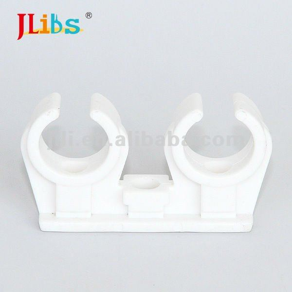 double side plastic pipe clip with screw