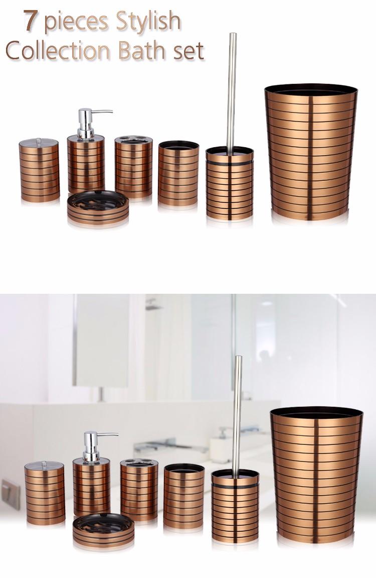 Modele Carrelage Salle De Bain Noir Et Blanc ~ or de luxe salle de bains de zinc accessoires 7 pcs buy salle de