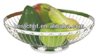 stainless steel wire Oval bread basket