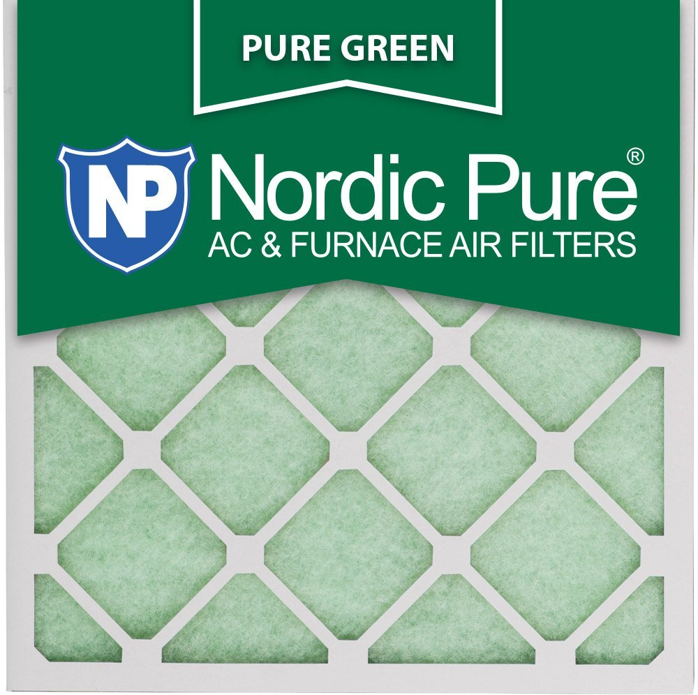 "Nordic Pure 20x20x1PureGreen-3 AC Furnace Air Filters, 20 x 20 x 1"", Pure Green"
