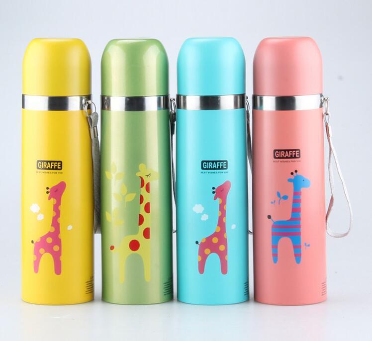 En Gros Coloré Animé Termica Vente Isotherme D À 350500 Café Thermos Ml Dessin Conception Girafe Tasse Eau Sport Bouteille Garrafa ONn08wkXPZ
