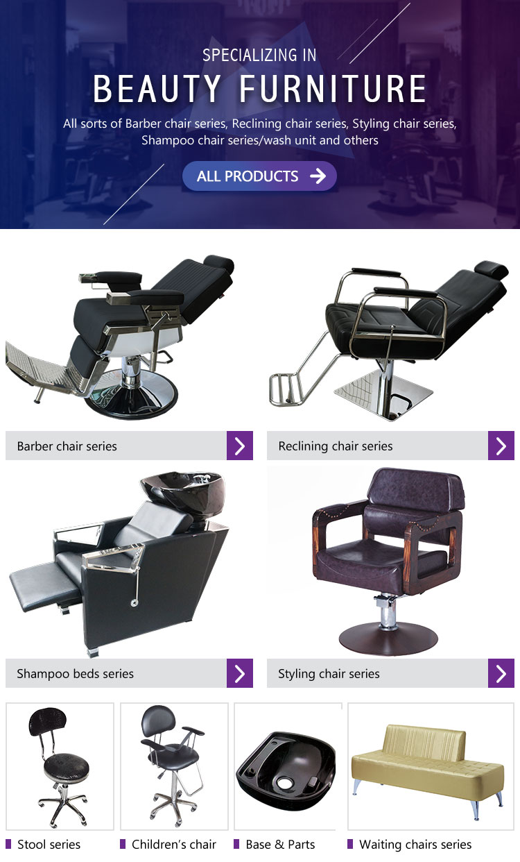 2018 Hot sale portable hair salon chairs nice design salon equipment heavy duty man barber chair