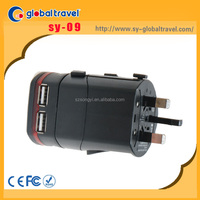 ODM and OEM provided worldwide all in one USB travel adapter plug