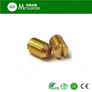 M2 5 M6 M12 Din551 Brass Slotted Flat Point Set Grub Screw - Buy Brass  Slotted Set Screw,Brass Slotted Grub Screw,Din551 Brass Slotted Set Screw