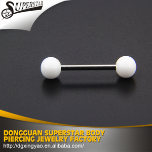 Enough stock provides silicone vibrating tongue barbell piercing