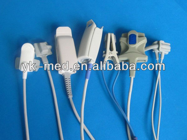 Patient monitor accessories,M&B electric white 6 pin spo2 connectors/plug,SpO2 sensor spare