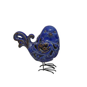 OEM Wholesale Animal Statue Shape Sculpture Decoration Ceramic Bird Figurine