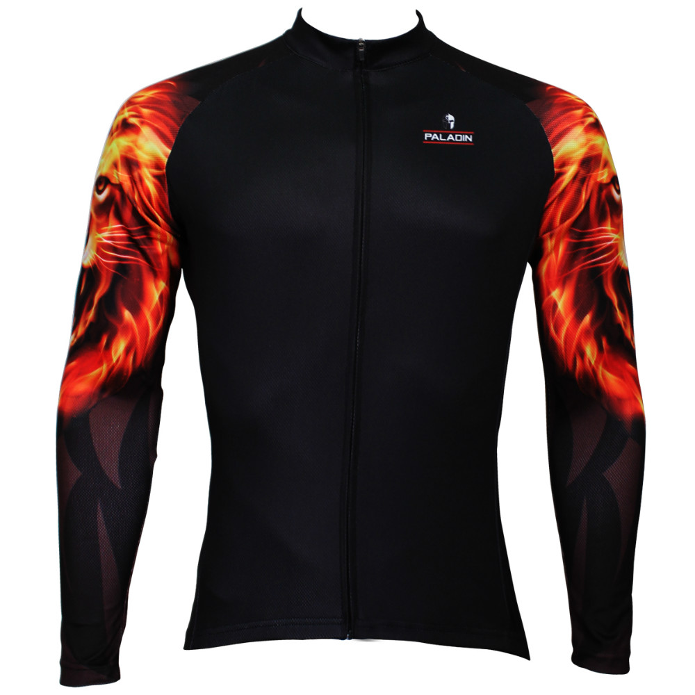 Free shipping 2015 Spring and autumn season long sleeved men black riding clothes Golden Lion arm SQ-370