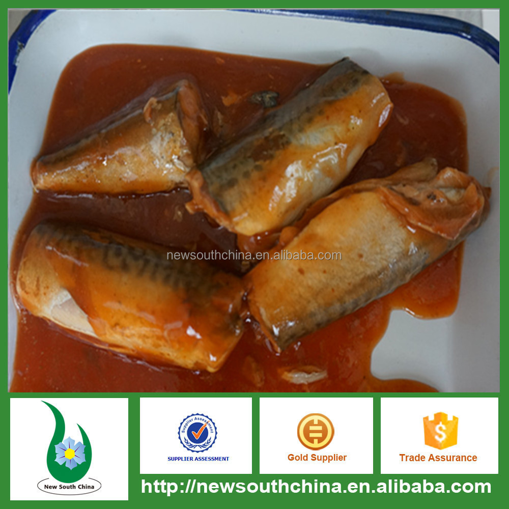 Canned mackerel in tomato sauce 3-5pcs