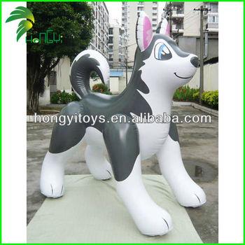 Husky Dog Christmas Inflatable Animals Cartoon