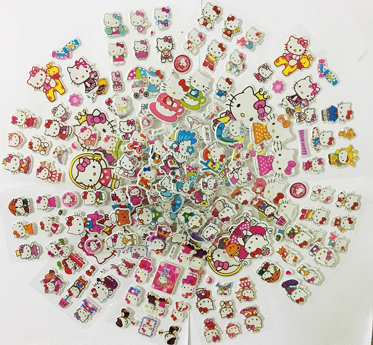 Get Quotations · Chaoiwah Hello Kitty Stickers 10 Sheets And 2 More Free  Sheet Sticker 12 Sheets Per Pack