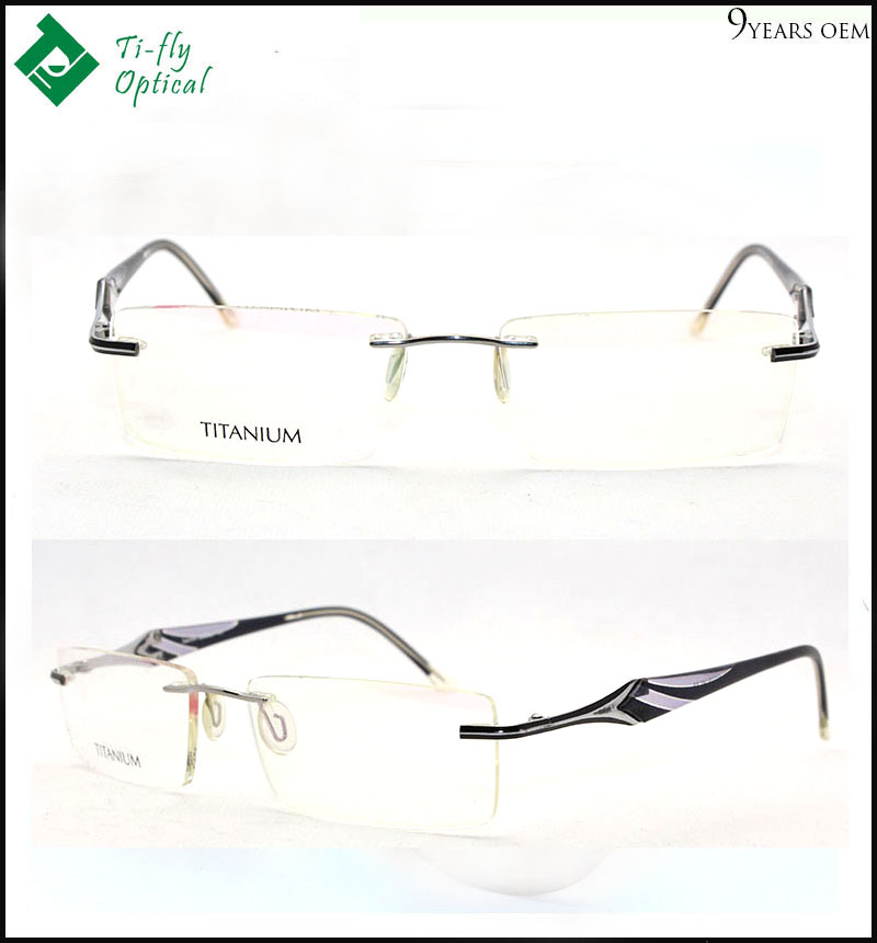 Custom good quality designer flex titanium optical frames