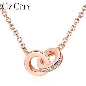 CZCITY Couples Love Women Jewelry Accessories Necklace 925 Silver Pendant for Women