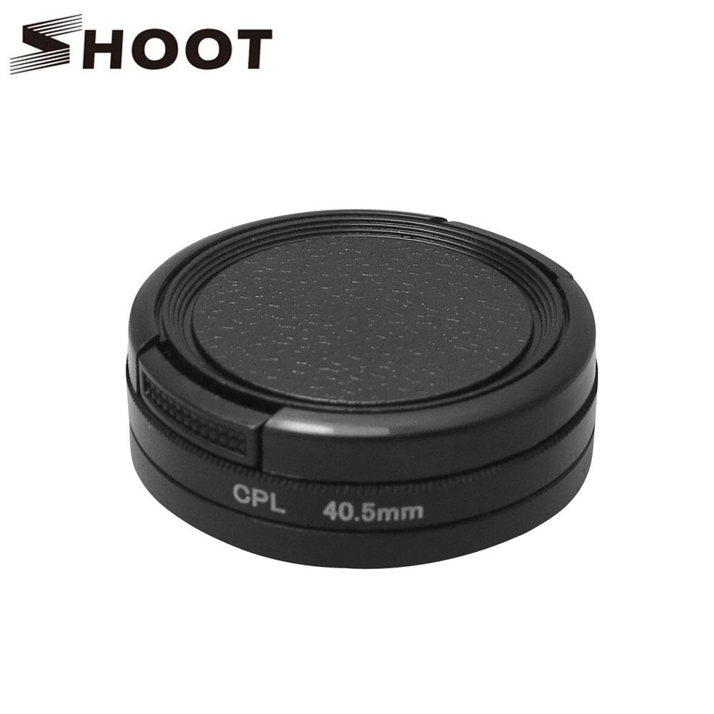 ШУ Профессиональный 40.5 мм Диаметр Неотъемлемой CPL Фильтр с Крышкой Объектива для Gopro Hero 3 3 + 4 Действий Камеры Go pro аксессуары
