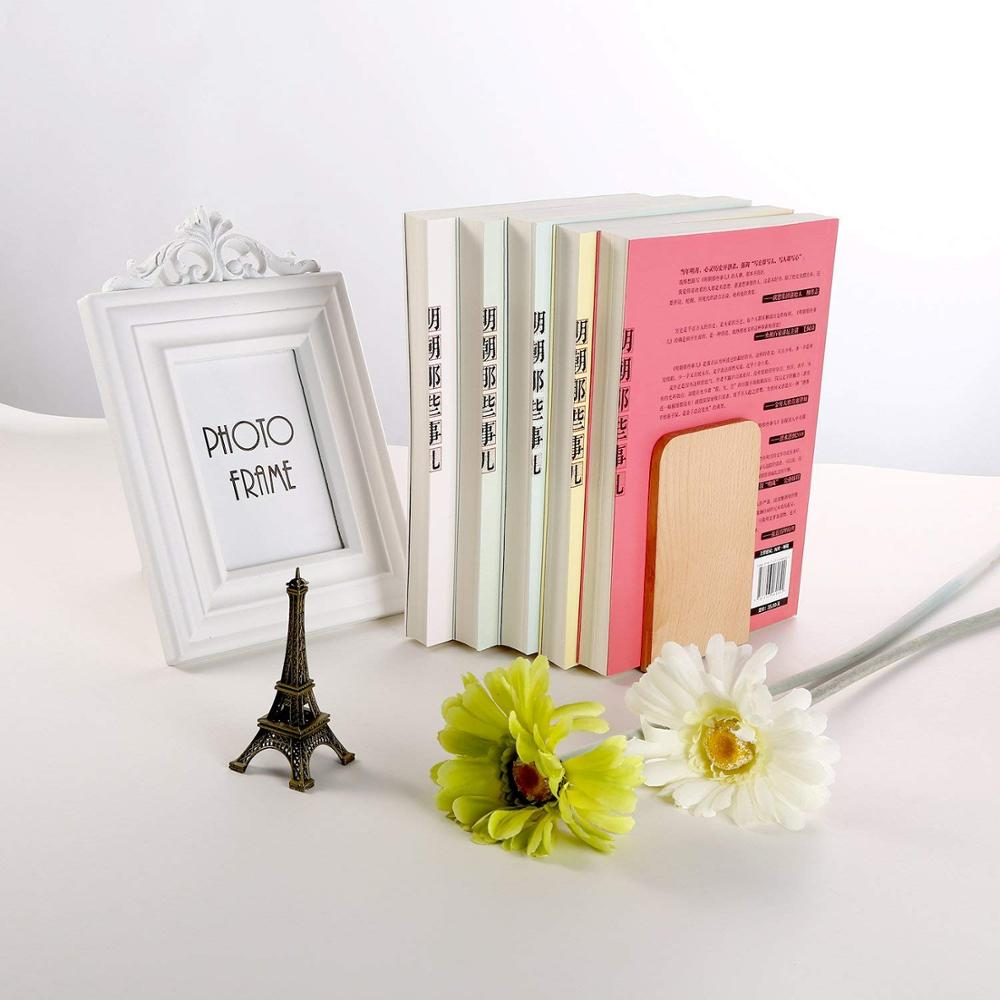 Decorative Collectibles 1 Pair Bookend Frame Creative Bookends Frame Creative Organized For Library Home Quality And Quantity Assured Books