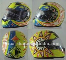 motorcycle full face helmet with double visors anti-fog and clean lens safety cap /helmet
