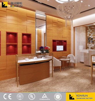 Luxury Wooden Cartier Jewelry Display Counter Showcase