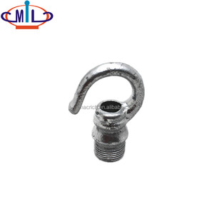 Malleable male round hook conduit fitting galvanize
