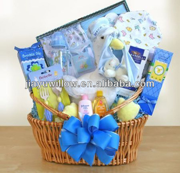 Natural willow 1 year old baby gift basket buy baby basketbaby natural willow 1 year old baby gift basket negle