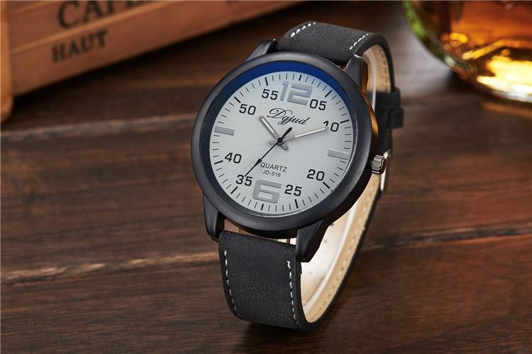 68be1ecf3 516 logotipo personalizado de moda de los hombres relojes de cristal de  zafiro de cristal negro