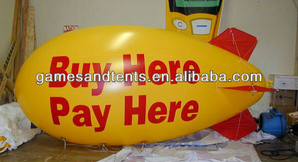 4m inflatable advertising helium blimp,airship,zepplin F2042