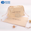 2018 new design wholesale Organic cotton fabric pouch drawstring dust bag
