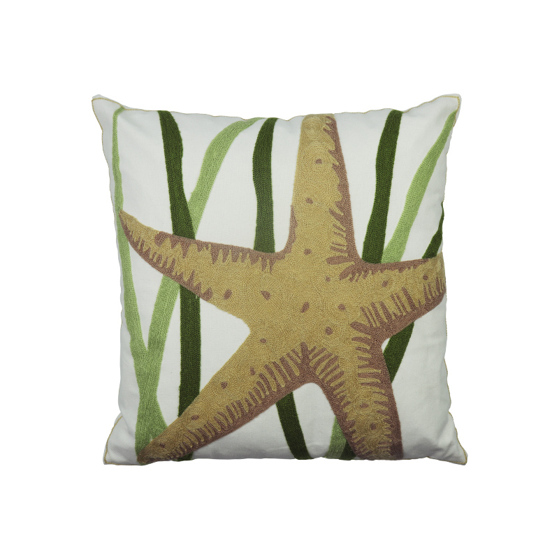 Hot sale sea new style marine animals Embroidered cushion cover