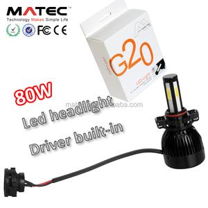 super bright 40W 80W 4000lm 8000lm led headlight bulb h4 h7 h11 9005 9006  canbus led headlight bulbs autozone