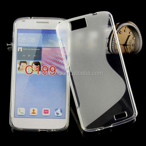 S Line Tpu soft Gel Skin Back Cover Case For huawei Ascend G7 C199