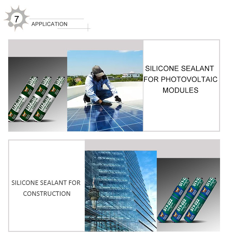 Hot Popular Transparent Photovoltaic PV Adhesive China Senior Solar Silicone Sealant