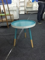 mdf coffee table small round table blue